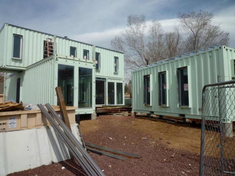 The Jones-Glotfelty Shipping Container Home, Flagstaff Arizona