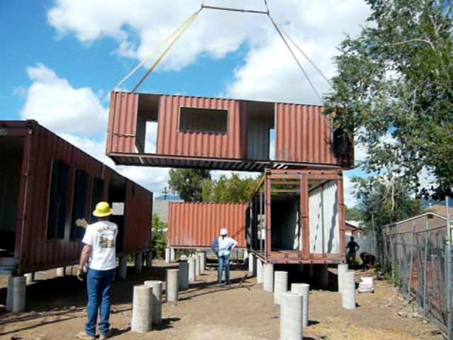 The very green six recycled shipping container home - Container homes arizona ...