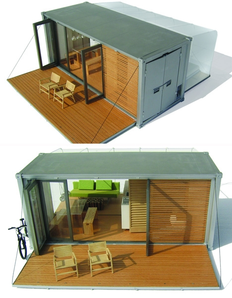 The Shipping Container All Terrain Cabin ATC By BARK - All terrain cabin shipping container homes