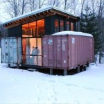 Holyoke Cabin. An Off Grid Shipping Container Home, Duluth, Minnesota, USA.