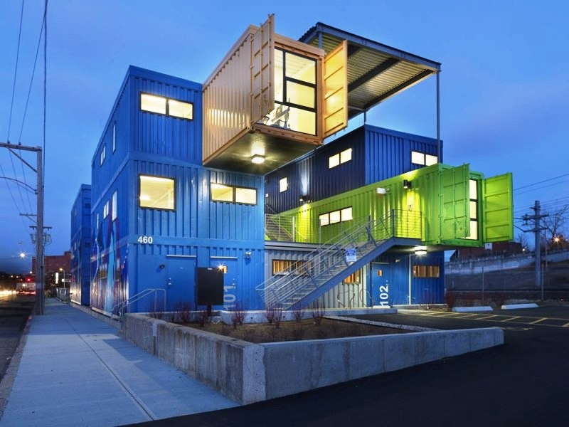 shipping containers office. The Box Office Shipping Container Project In Providence Rhode Island. Island Containers